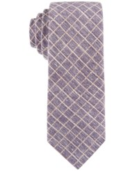 Construct Con. Struct Men's Grid Slim Tie Plum