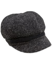 August Hats Marley Marled Newsboy Hat Black