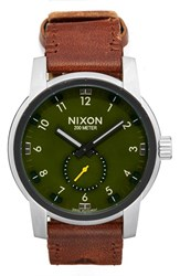 Nixon Men's 'The Patriot' Leather Strap Watch 45Mm