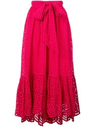 Ulla Johnson Lindley Broderie Anglaise Skirt Pink