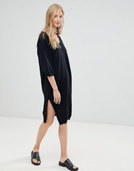 D.Ra January Wool Mix Knit Sweater Dress Black