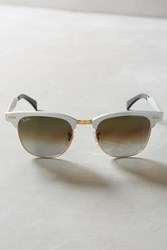 Anthropologie Ray Ban Classic Clubmaster Sunglasses Gold