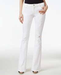 Nanette By Nanette Lepore Ripped Flare Leg Jeans Only At Macy's Daffodil