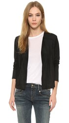 Cupcakes And Cashmere Jimi Fringe Faux Suede Jacket Black