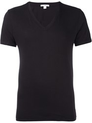 James Perse V Neck T Shirt Brown