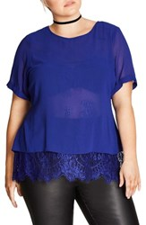 City Chic Plus Size Women's Lace Scallop Top