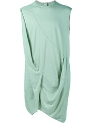 Rick Owens Sleeveless Draped Top Green