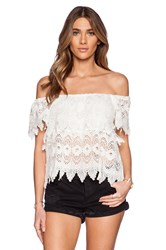 Liv Lucy Tiered Lace Top White