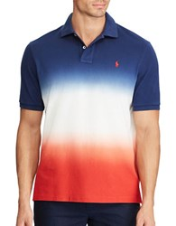 Polo Big And Tall Classic Fit Cotton Mesh Cobalt White