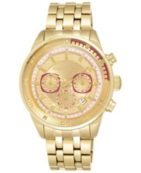 Vince Camuto Men's Chronograph Gold Tone Stainless Steel Bracelet Watch 45Mm Vc 1044Gdgp