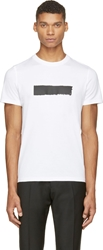 Kris Van Assche White Single Stripe T Shirt