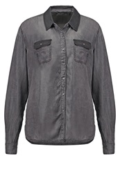 Teddy Smith Clem Shirt Noir Gris Grey