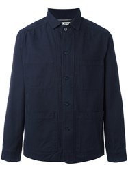 Hope Classic Shirt Jacket Men Cotton 48 Blue