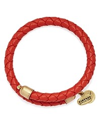 Alex And Ani Vintage 66 Braided Leather Wrap Bracelet