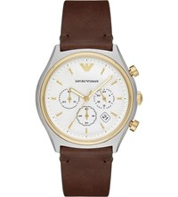Emporio Armani Ar11033 Stainless Steel And Gold Watch