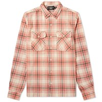 Rrl Carter Checked Flannel Overshirt Pink
