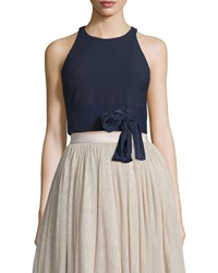 Elizabeth And James Eniko Sleeveless Crop Top French Navy