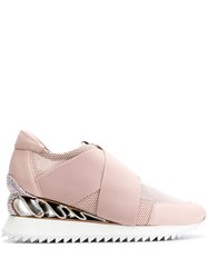 Le Silla Slip On Sneakers Pink