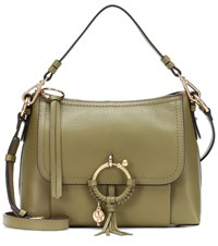 See By Chloe Joan Small Leather Shoulder Bag Green