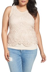 Democracy Plus Size Women's Crochet Popover Tank