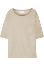 Allude Cotton And Cashmere Blend Sweater Beige