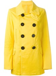 Dsquared2 Double Breasted Coat Yellow And Orange