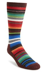 Men's Wigwam 'Taos' Midweight Hiking Socks Brown Red Green