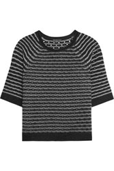 James Perse Pointelle Knit Cashmere Sweater Black