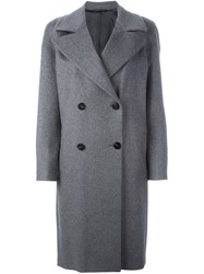 Tonello Double Breasted Coat Grey