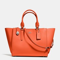 Coach Crosby Carryall In Refined Calf Leather Silver Coral