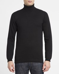 Revolution Black 6423 Cotton Polo Neck Sweater