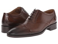 Etro Mixed Leather Cap Toe Oxford Brown Men's Lace Up Cap Toe Shoes