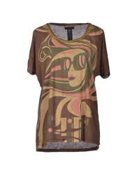 Custo Barcelona Topwear T Shirts Women Beige