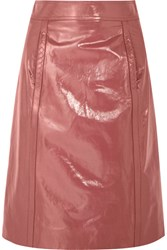 Bottega Veneta Patent Leather Pencil Skirt Antique Rose