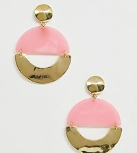 Designb London Gold And Resin Statement Earrings