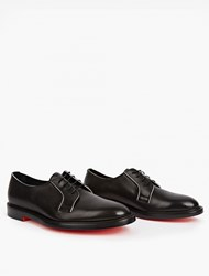 Paul Smith Black Boyd Leather Derby Shoes Navy