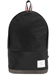 Thom Browne Unstructured Backpack In Nylon And Suede Black