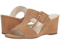 Anne Klein Nilli Natural Suede Wedge Shoes Tan