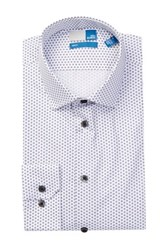 14Th And Union Printed Trim Fit Dress Shirt Blue