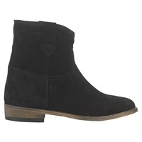 Jigsaw Eve Low Block Heeled Ankle Boots Black Suede