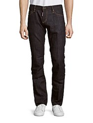 Dsquared Slim Fit Low Rise Jeans Blue