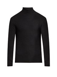 Atm Anthony Thomas Melillo Roll Neck Ribbed Knit Sweater Black