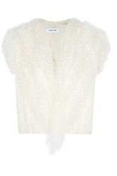 Helmut Lang Faux Shearling And Jacquard Knit Vest