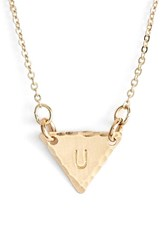 Women's Nashelle 14K Gold Fill Initial Triangle Necklace 14K Gold Fill U