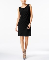 Jessica Simpson Asymmetrical Layered Shift Dress Black