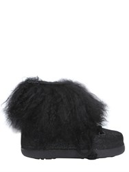 Inuikii 20Mm Mongolia Fur And Leather Boots