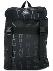 Adidas Originals 'Hu Race' Printed Backpack Black