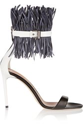 Reed Krakoff Feather Embellished Patent Leather Sandals