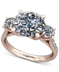 Macy's Diamond Ring Mount 1 2 Ct. T.W. With Claw Set Diamond Accents In 14K Rose Gold