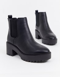 New Look Chunky Chelsea Boot In Black